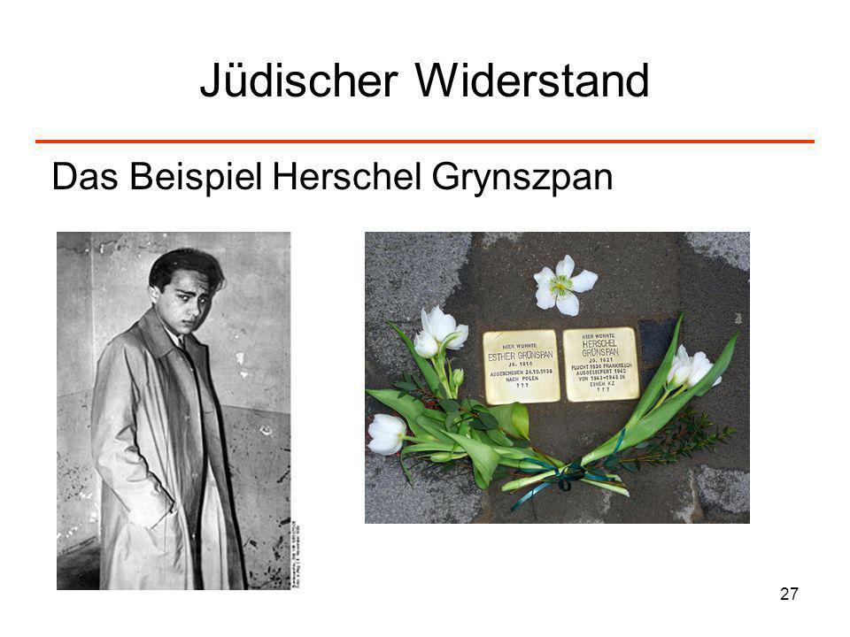 Jüdischer Widerstand Das Beispiel Herschel Grynszpan
