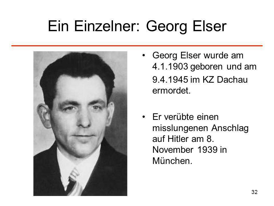 Ein Einzelner: Georg Elser