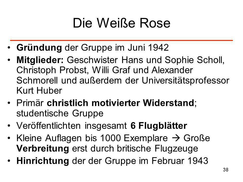 Die Weiße Rose Gründung der Gruppe im Juni 1942