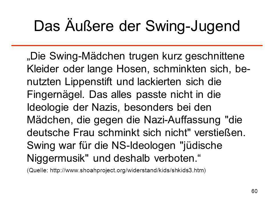 Das Äußere der Swing-Jugend