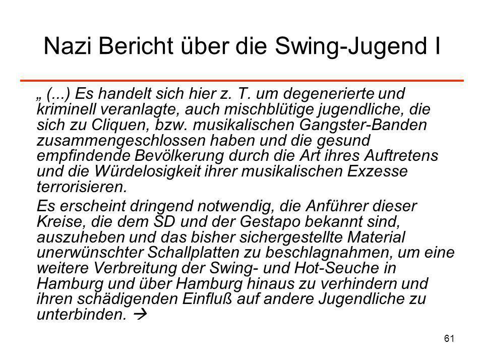 Nazi Bericht über die Swing-Jugend I