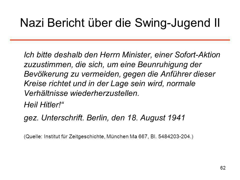 Nazi Bericht über die Swing-Jugend II