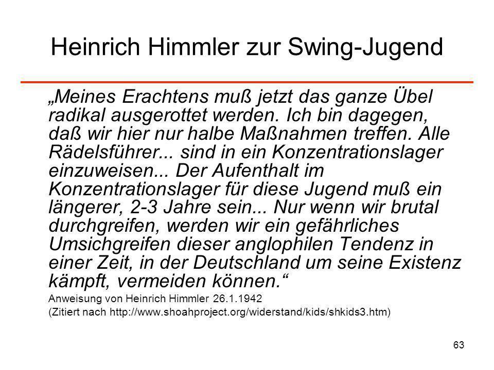 Heinrich Himmler zur Swing-Jugend