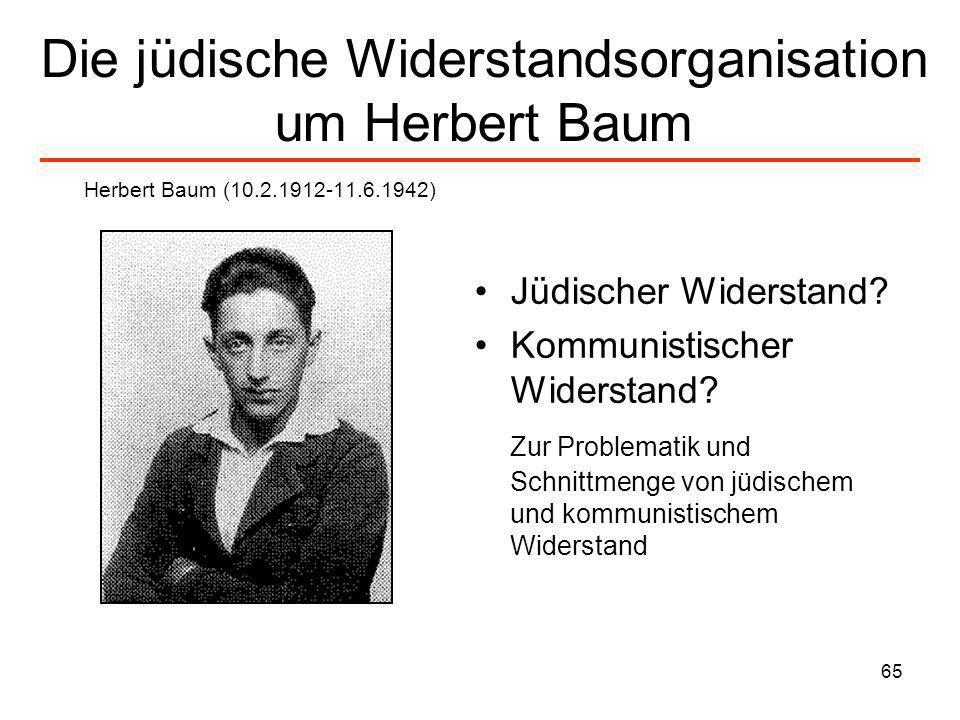 Die jüdische Widerstandsorganisation um Herbert Baum