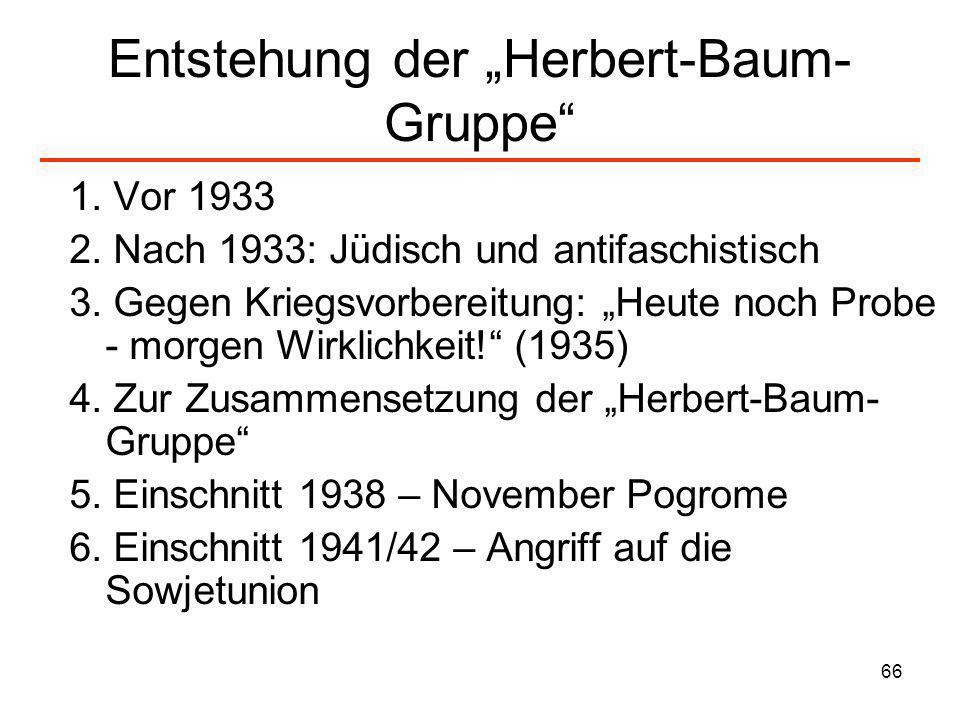 """Entstehung der """"Herbert-Baum-Gruppe"""