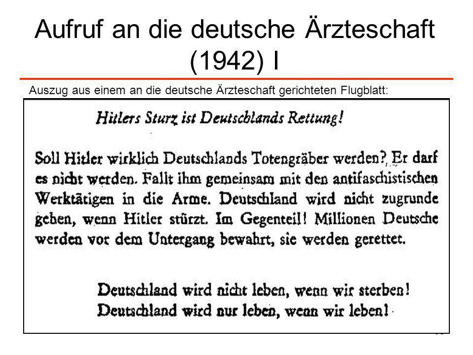 Aufruf an die deutsche Ärzteschaft (1942) I