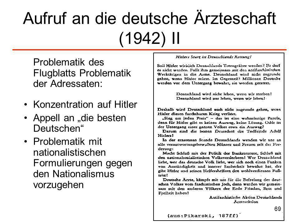 Aufruf an die deutsche Ärzteschaft (1942) II
