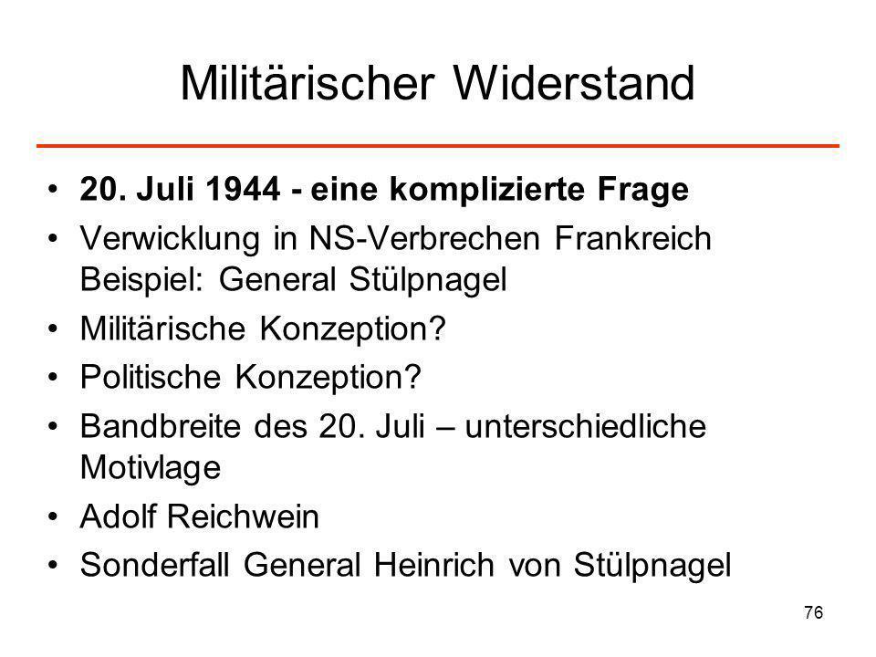 Militärischer Widerstand