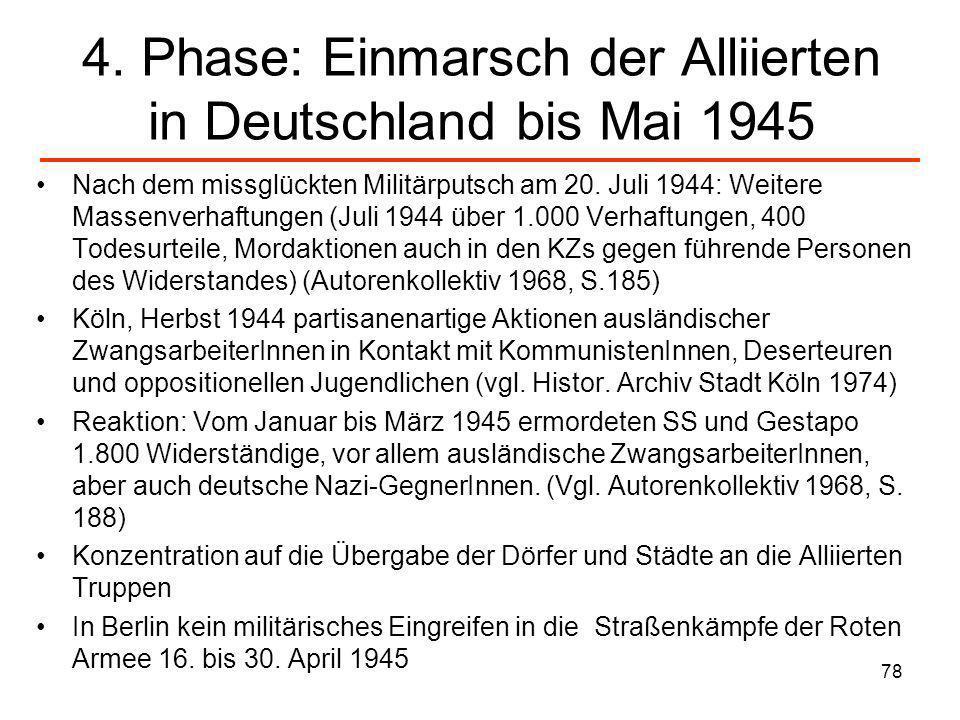 4. Phase: Einmarsch der Alliierten in Deutschland bis Mai 1945