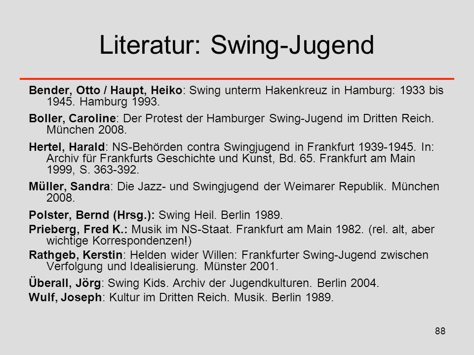 Literatur: Swing-Jugend