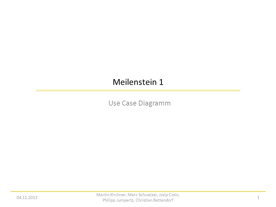 Meilenstein 1 Use Case Diagramm