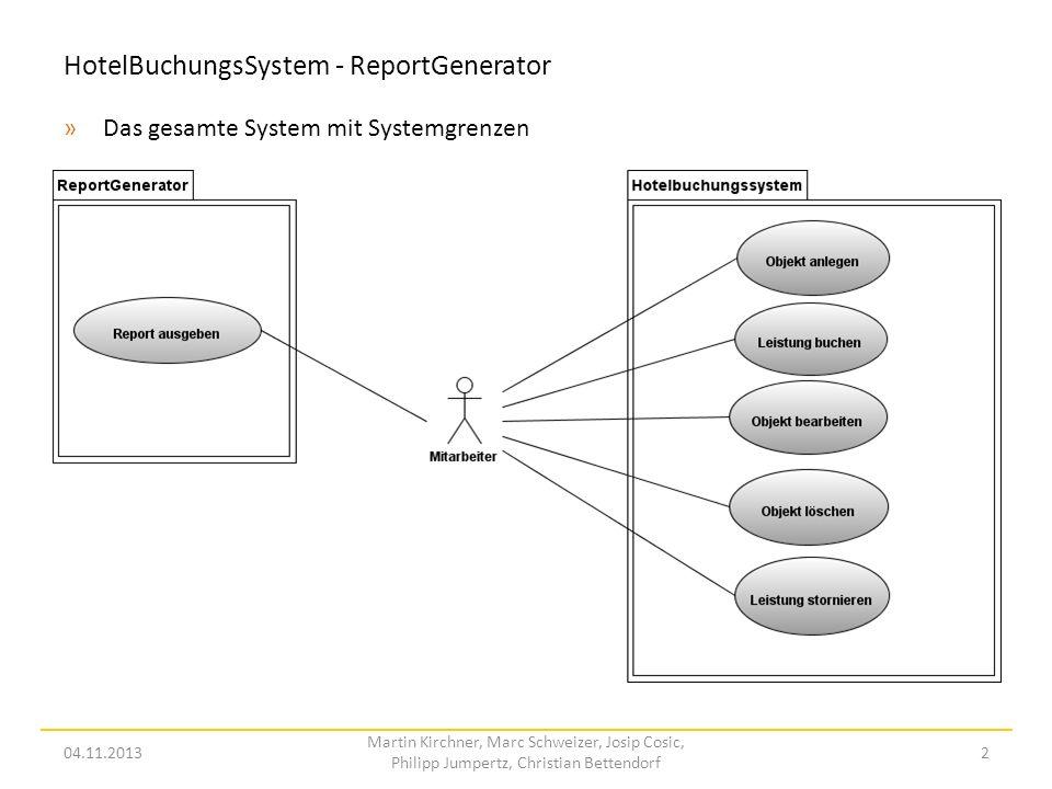 HotelBuchungsSystem - ReportGenerator