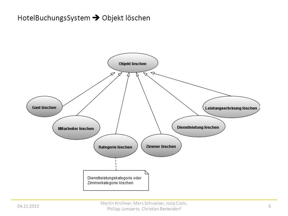 HotelBuchungsSystem  Objekt löschen