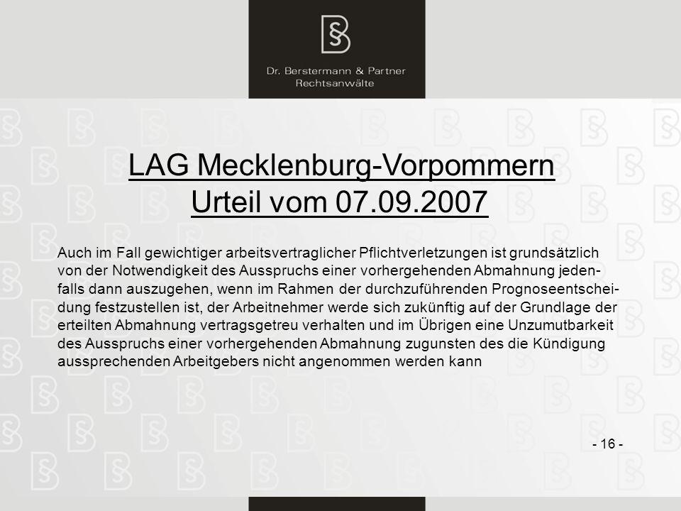 LAG Mecklenburg-Vorpommern