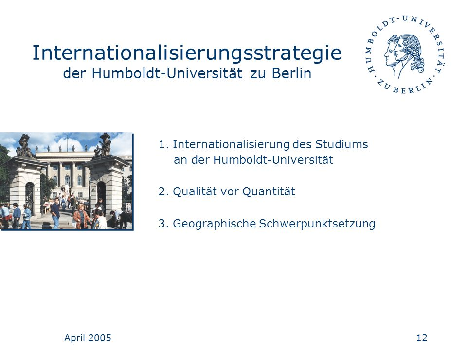 Internationalisierungsstrategie der Humboldt-Universität zu Berlin