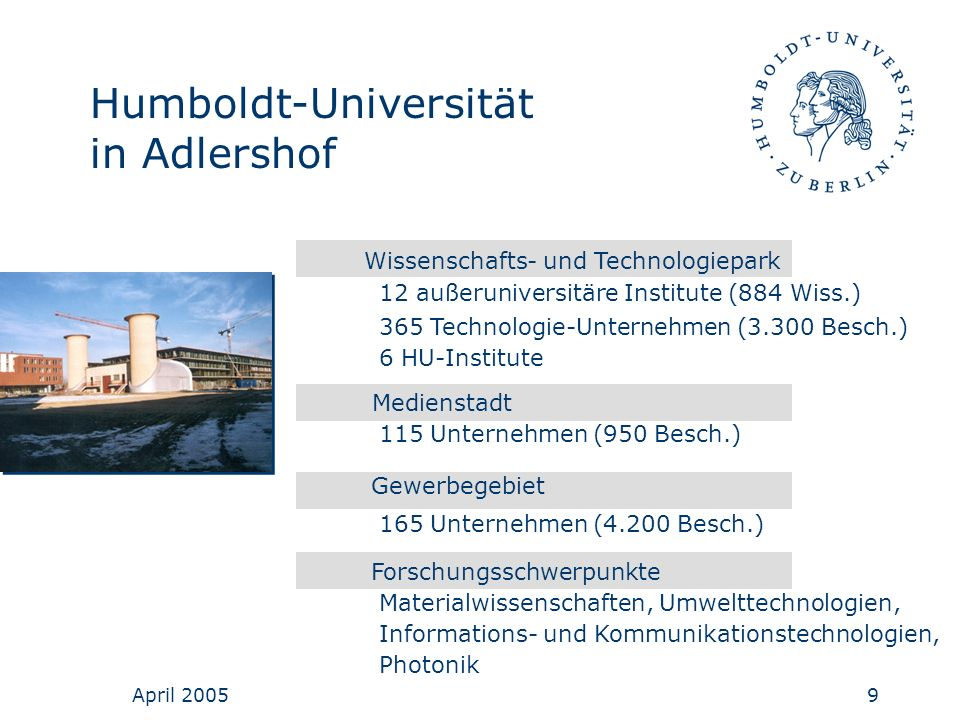 Humboldt-Universität in Adlershof