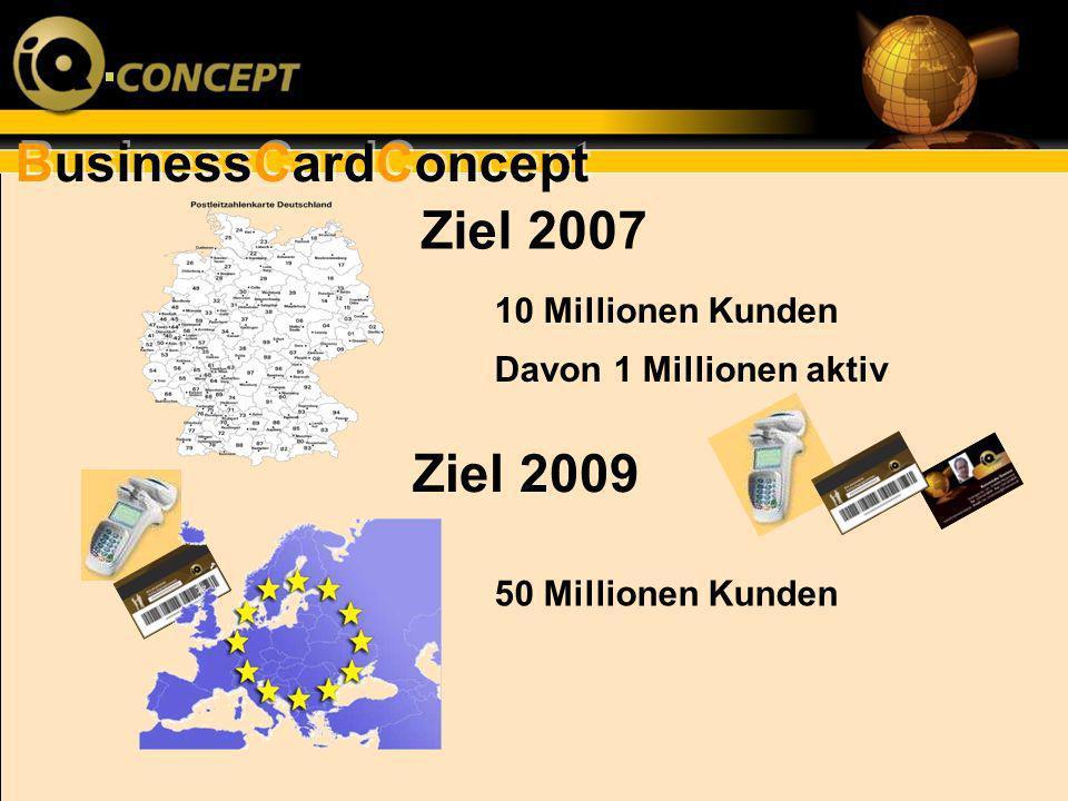 Ziel 2007 Ziel 2009 10 Millionen Kunden Davon 1 Millionen aktiv