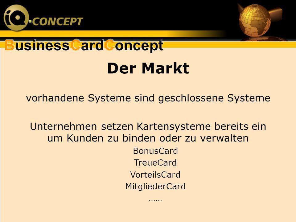 vorhandene Systeme sind geschlossene Systeme