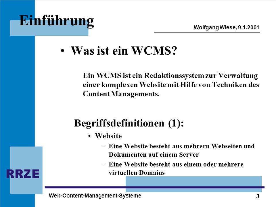 Einführung Was ist ein WCMS Begriffsdefinitionen (1):