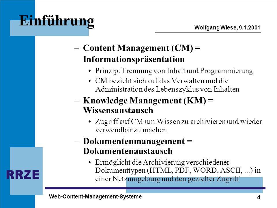 Einführung Content Management (CM) = Informationspräsentation
