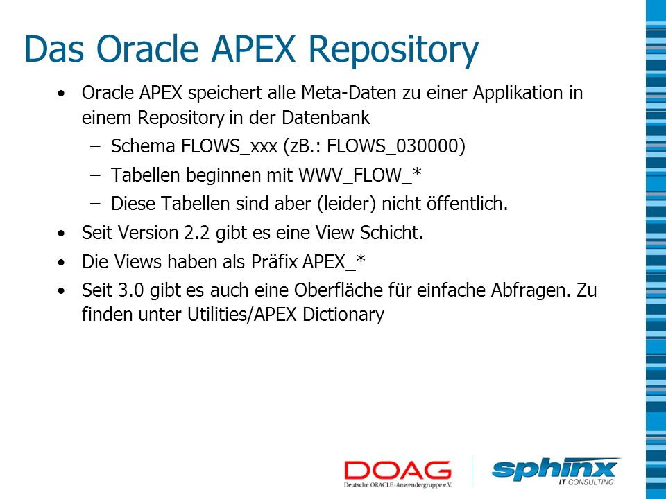 Das Oracle APEX Repository