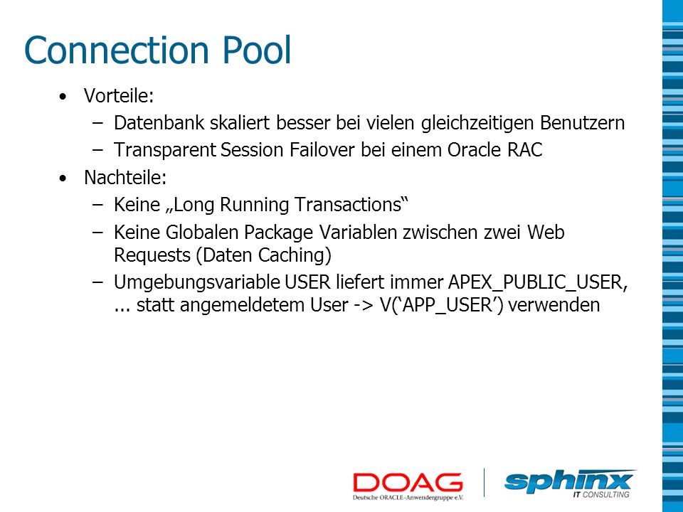 Connection Pool Vorteile: