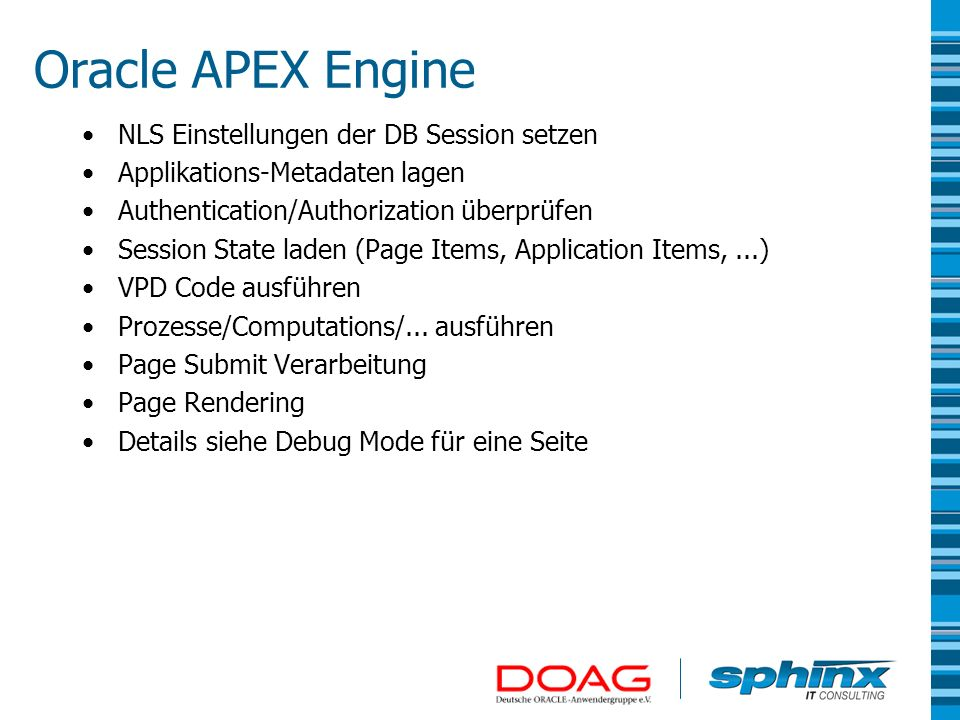Oracle APEX Engine NLS Einstellungen der DB Session setzen