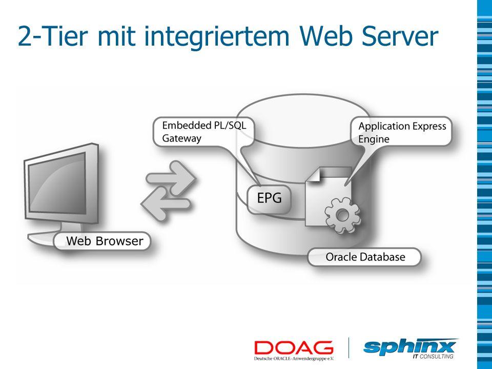 2-Tier mit integriertem Web Server