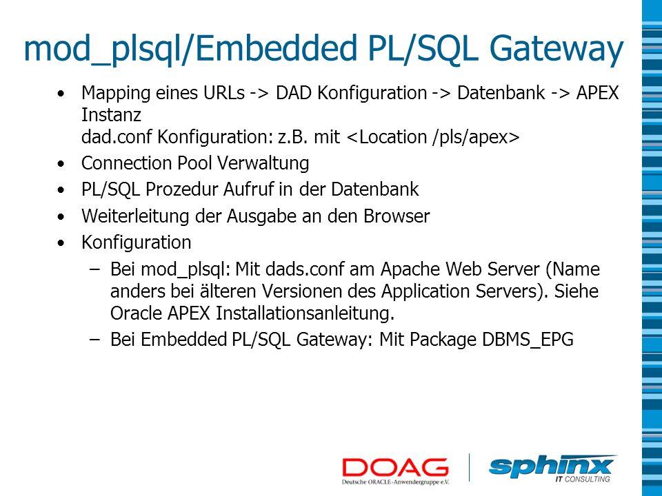 mod_plsql/Embedded PL/SQL Gateway