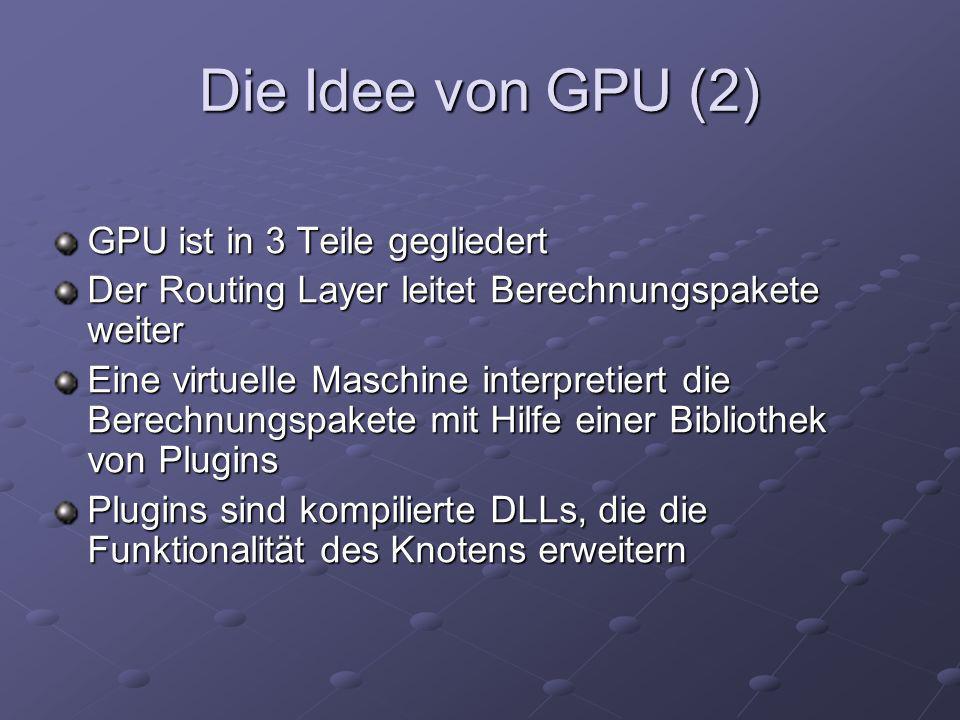 Die Idee von GPU (2) GPU ist in 3 Teile gegliedert