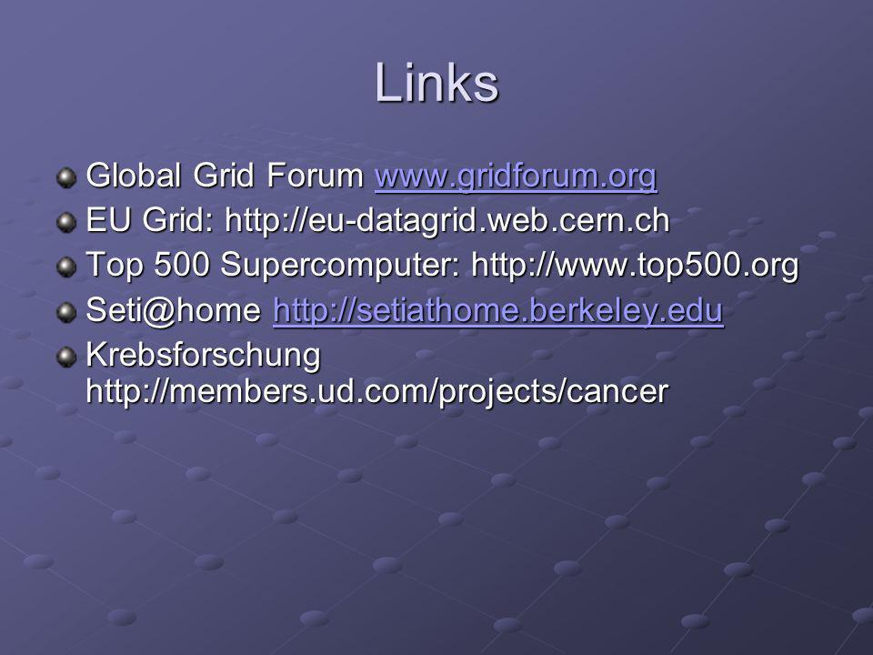 Links Global Grid Forum www.gridforum.org