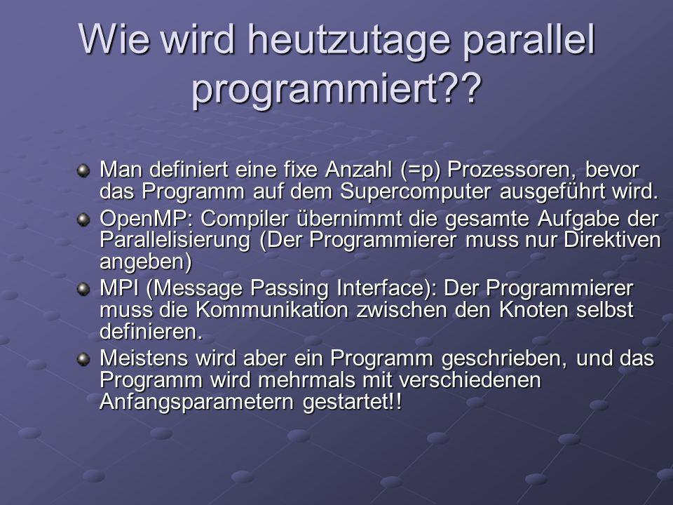Wie wird heutzutage parallel programmiert