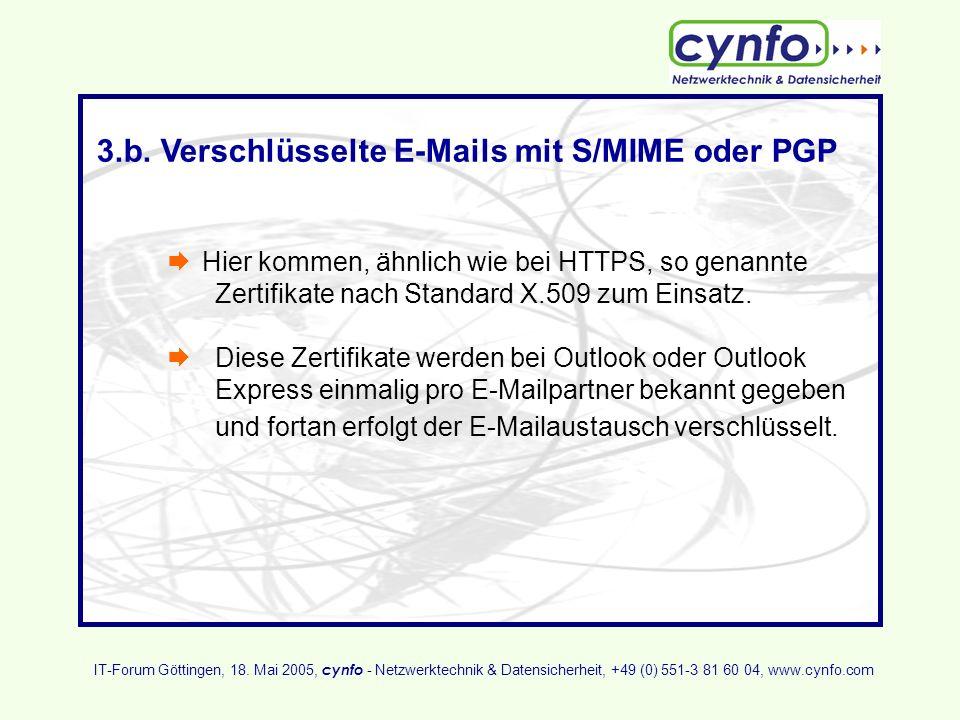 3.b. Verschlüsselte E-Mails mit S/MIME oder PGP
