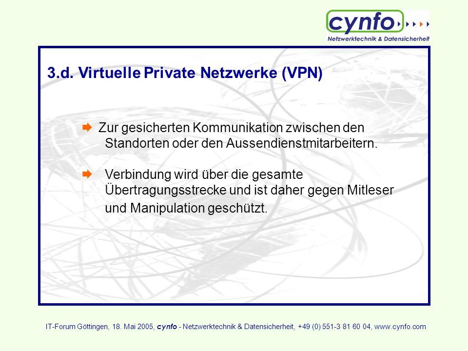 3.d. Virtuelle Private Netzwerke (VPN)