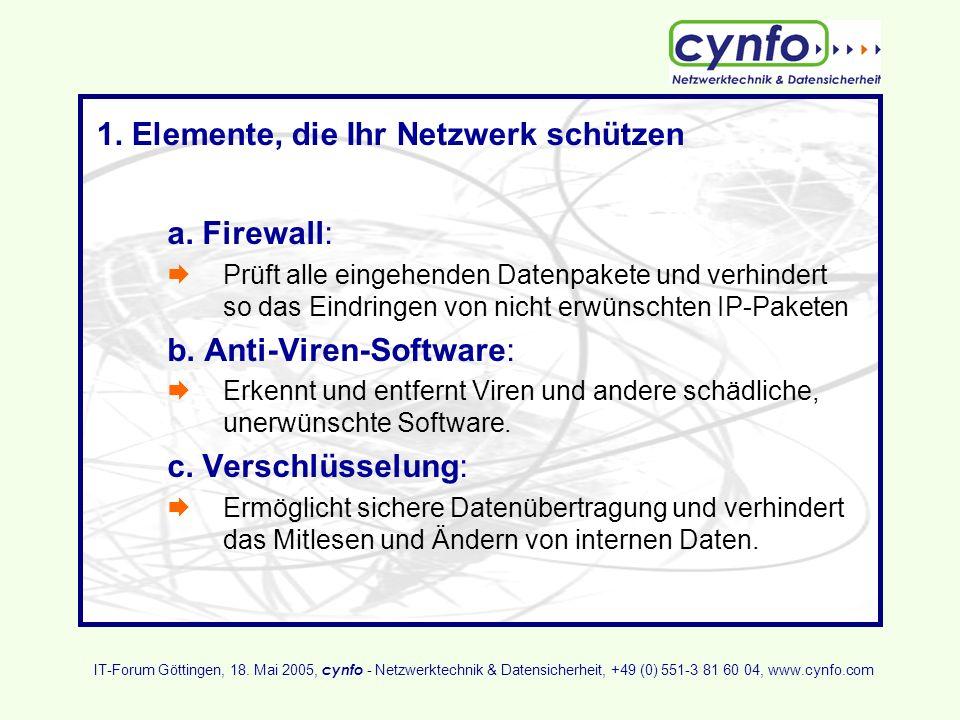 1. Elemente, die Ihr Netzwerk schützen