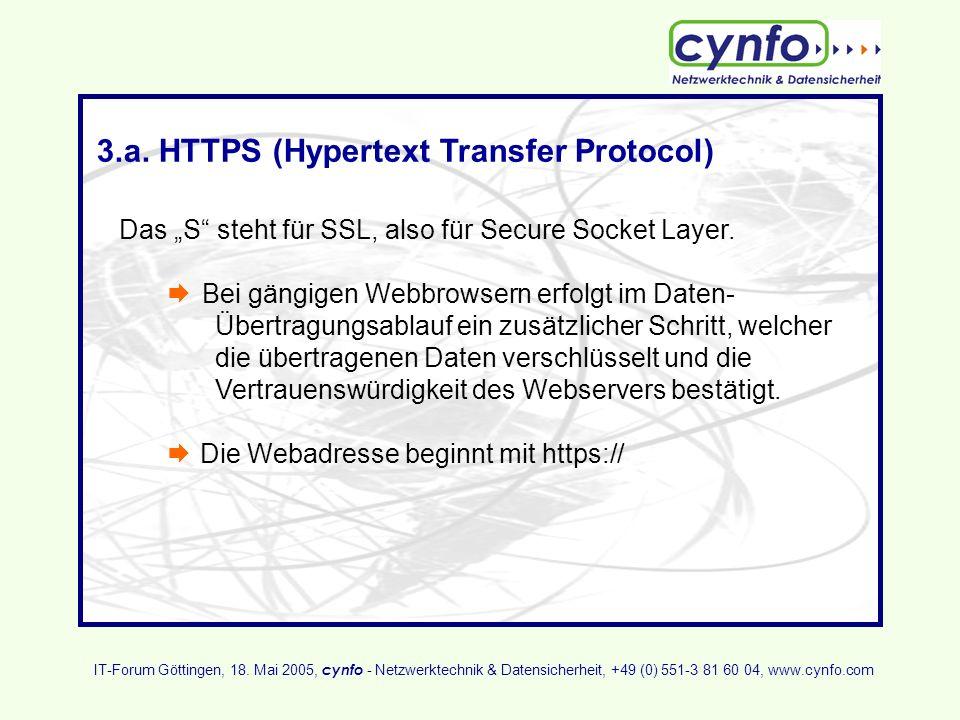 3.a. HTTPS (Hypertext Transfer Protocol)