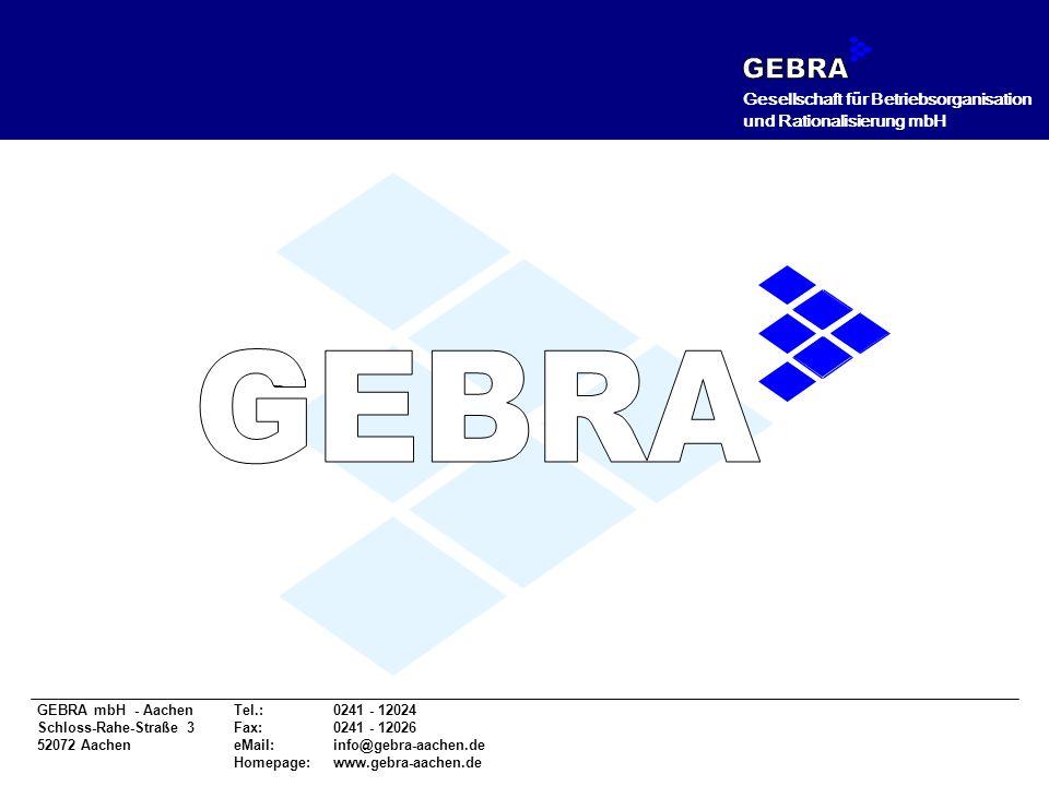 GEBRA GEBRA Gesellschaft für Betriebsorganisation
