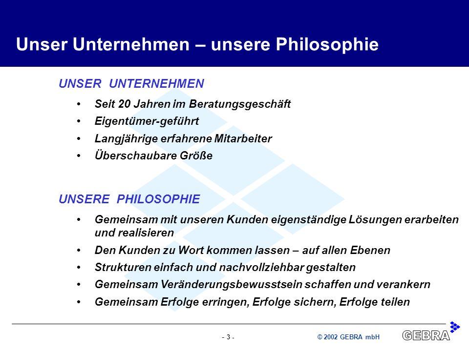 Unser Unternehmen – unsere Philosophie