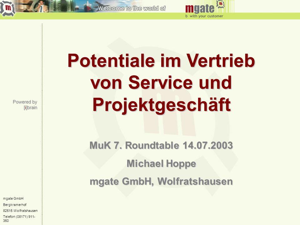 Potentiale im Vertrieb von Service und Projektgeschäft