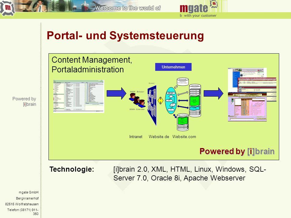 Portal- und Systemsteuerung