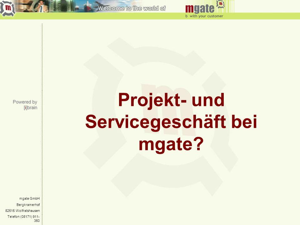 Projekt- und Servicegeschäft bei mgate