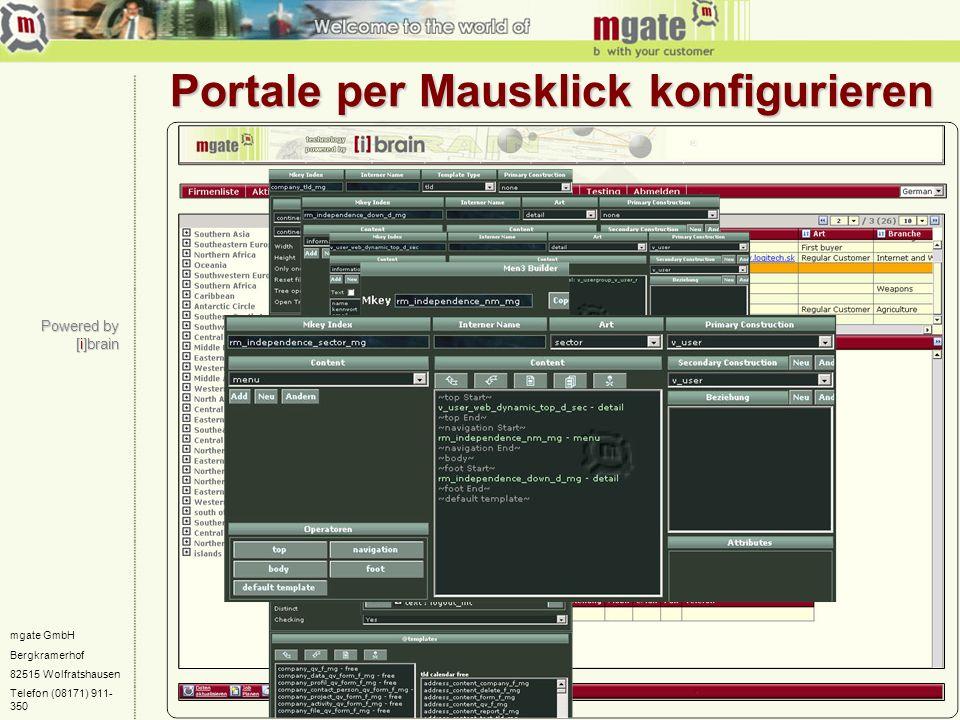 Portale per Mausklick konfigurieren
