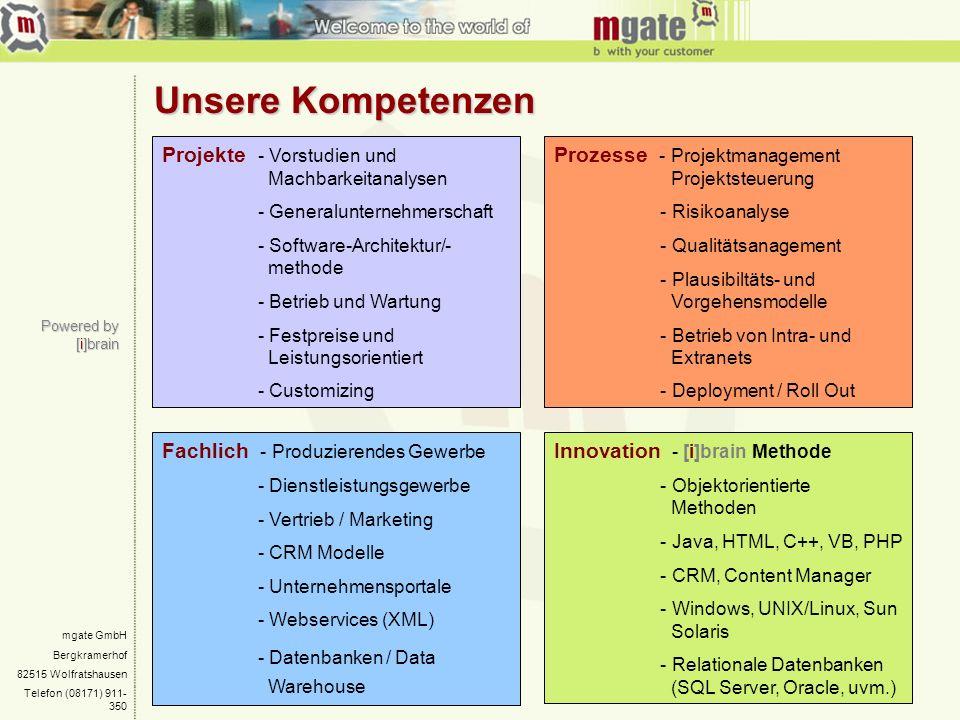 Unsere Kompetenzen Projekte - Vorstudien und Machbarkeitanalysen