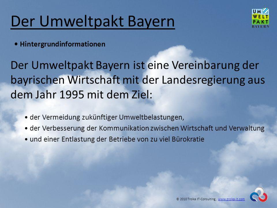 Der Umweltpakt Bayern • Hintergrundinformationen