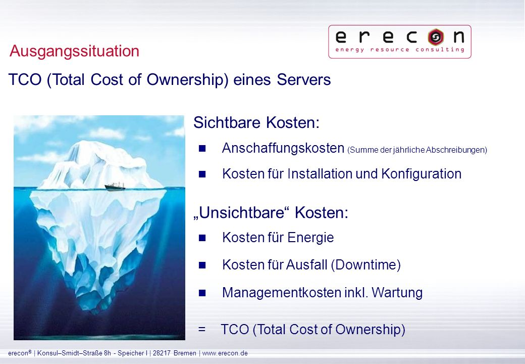 TCO (Total Cost of Ownership) eines Servers