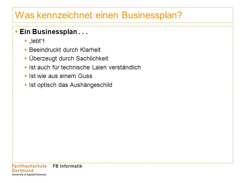 Was kennzeichnet einen Businessplan