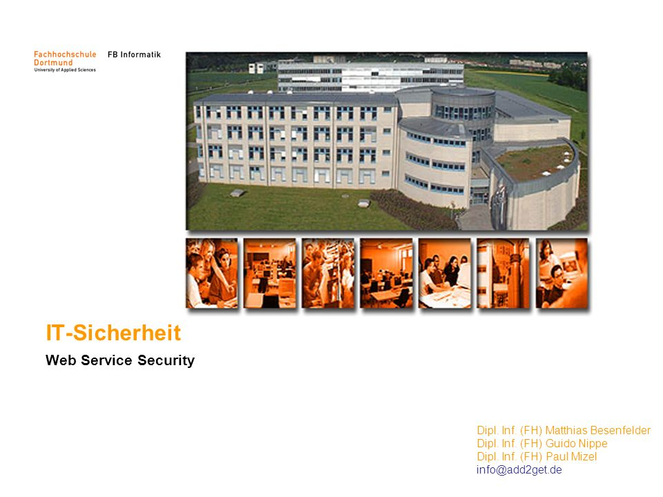 IT-Sicherheit Web Service Security