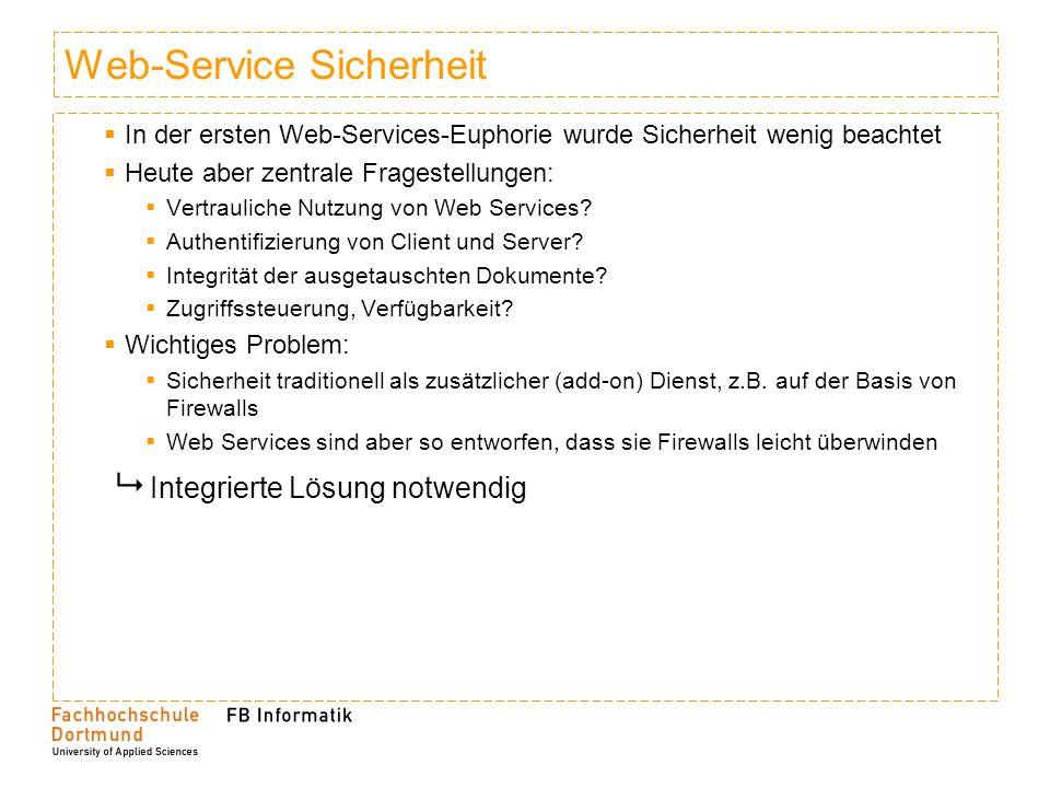 Web-Service Sicherheit