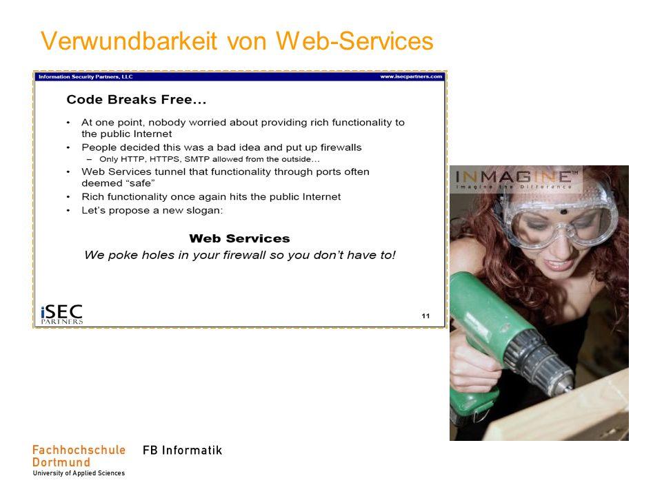 Verwundbarkeit von Web-Services