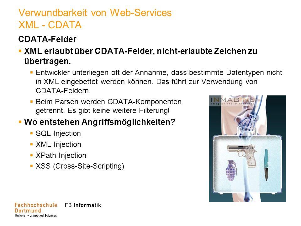 Verwundbarkeit von Web-Services XML - CDATA